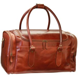 Arno Leather Travel Bag - Brown