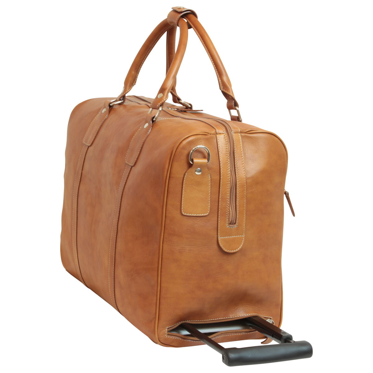 Oiled Calfskin leather duffel bag - Colonial Brown | 001561CO E | Old Angler Firenze