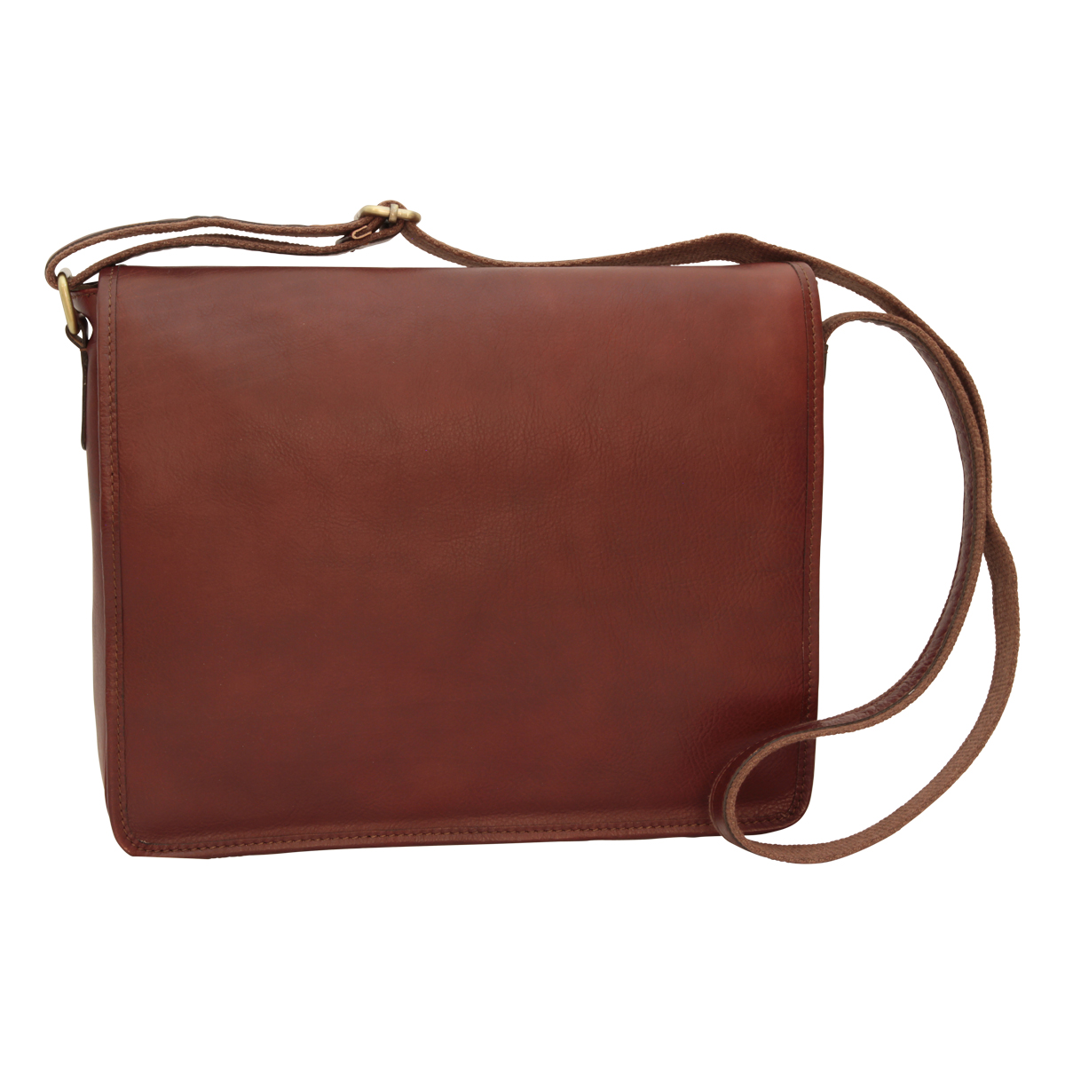 Full grain calfskin shoulder bag - brown | 032091MA UK | Old Angler Firenze