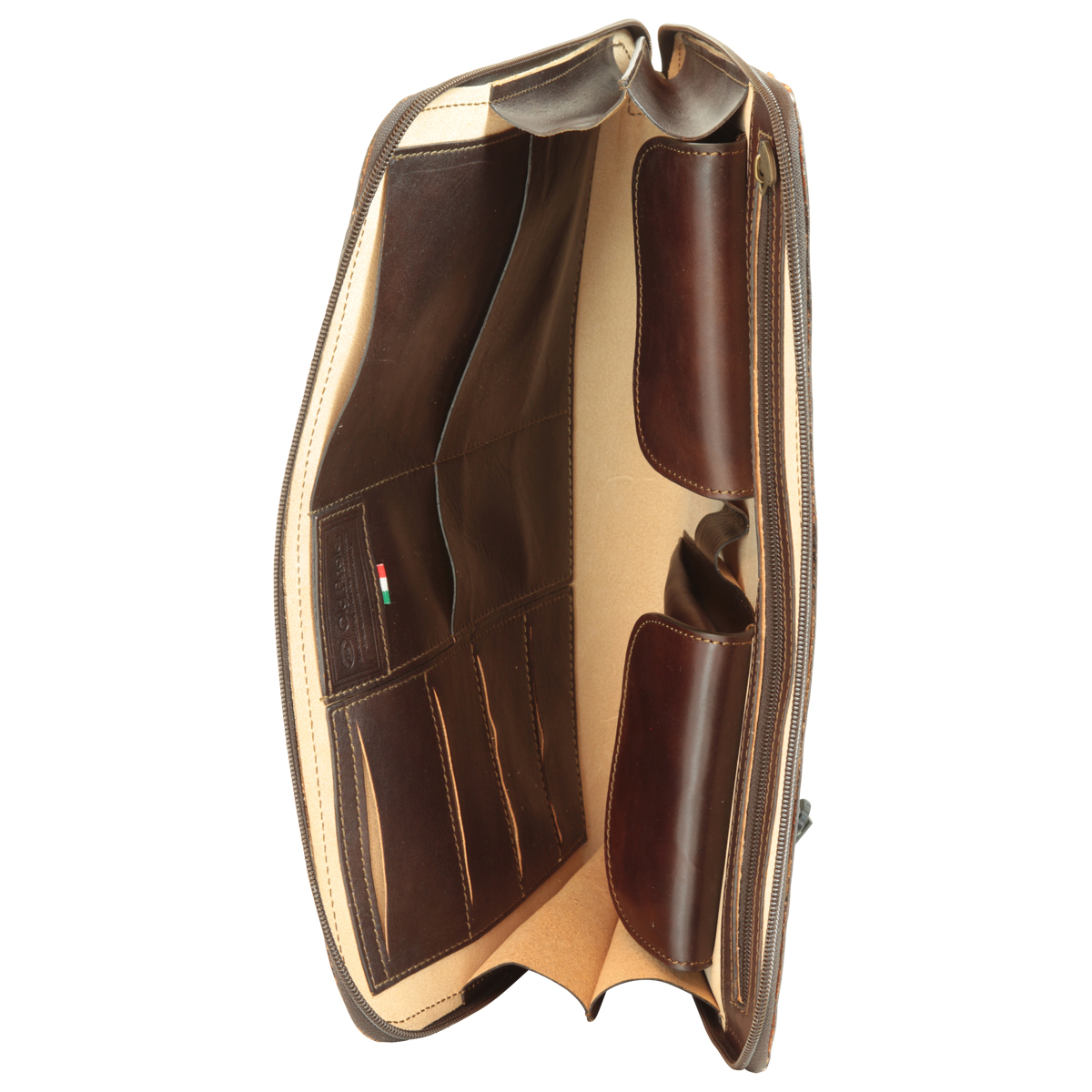 Leather Folder - Dark Brown | 056889TM E | Old Angler Firenze