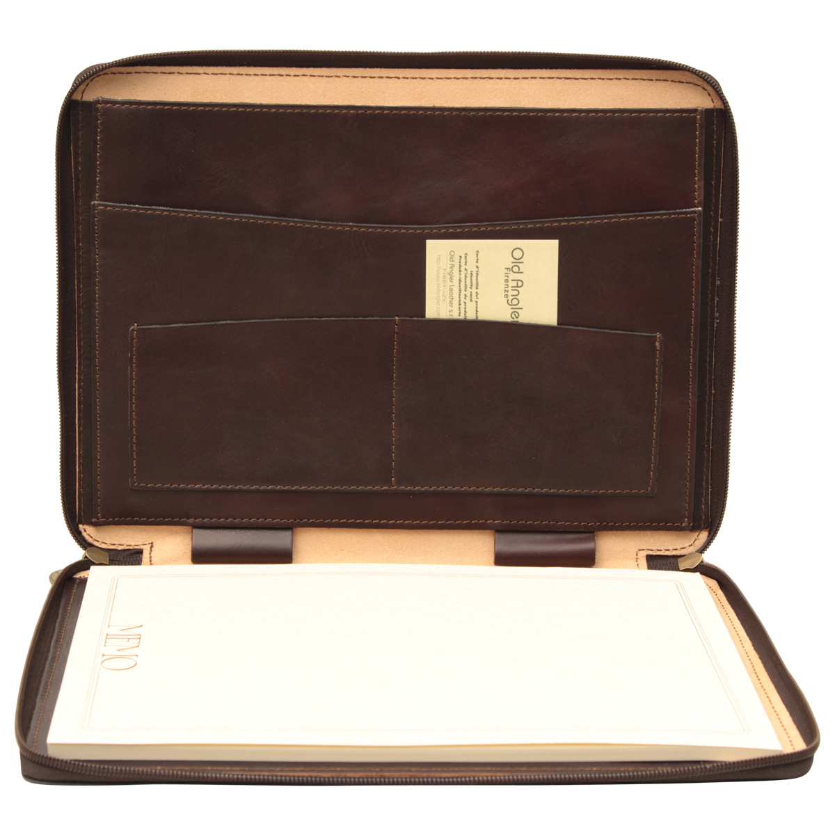 Cowhide leather portfolio - Dark Brown | 059489TM UK | Old Angler Firenze