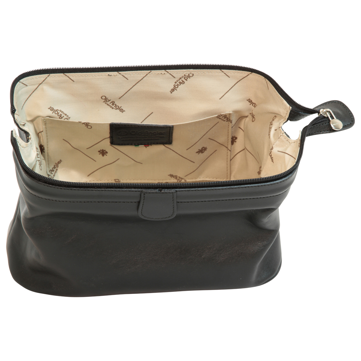 Leather Beauty Case - Black | 065489NE UK | Old Angler Firenze