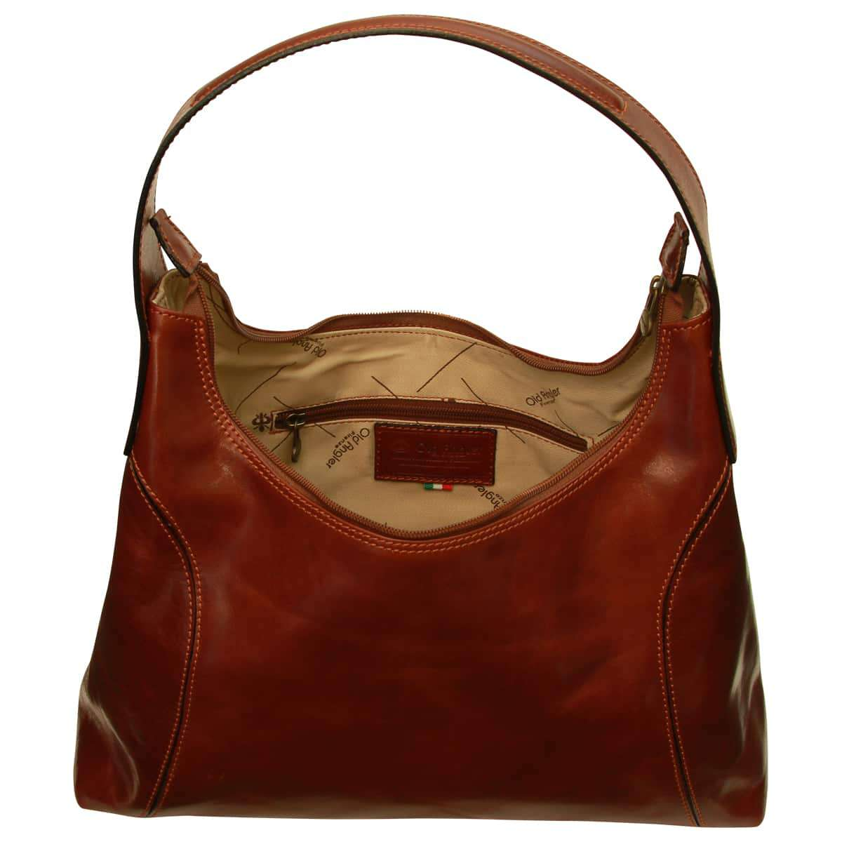 Women's leather shoulder bag - Brown | 069105MA UK | Old Angler Firenze