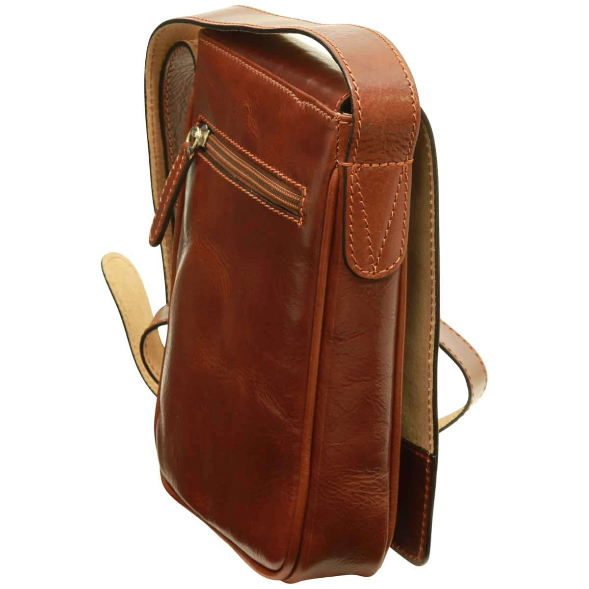 Cowhide leather cross body bag - Brown | 070805MA UK | Old Angler Firenze