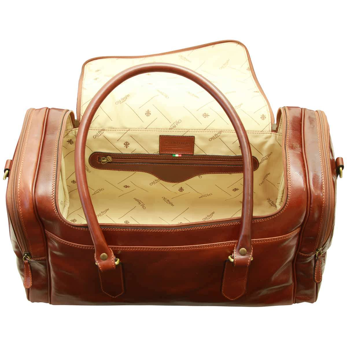 Arno Leather Travel Bag – Brown | 077805MA W | Old Angler Firenze