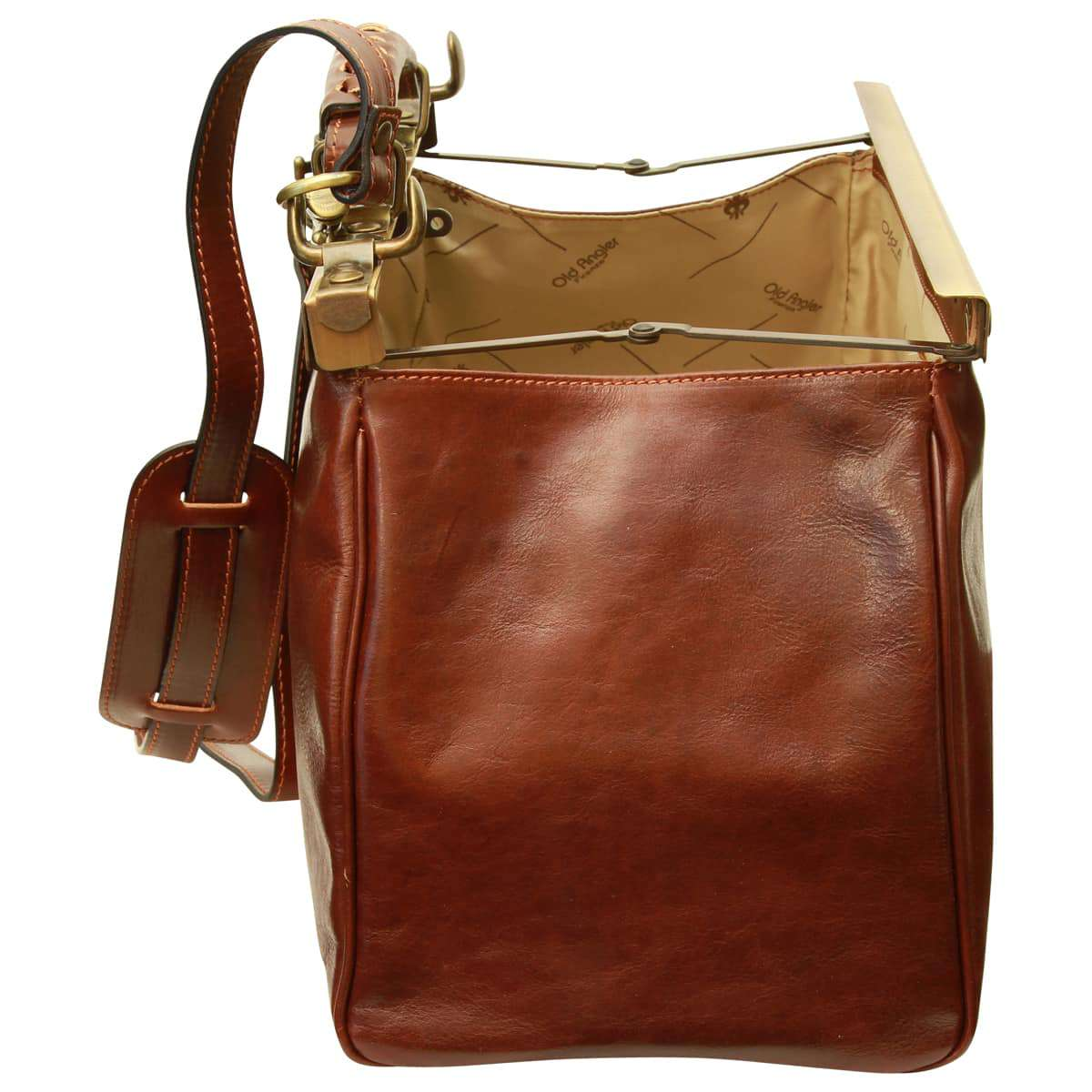 Leather bag - Brown | 084805MA E | Old Angler Firenze