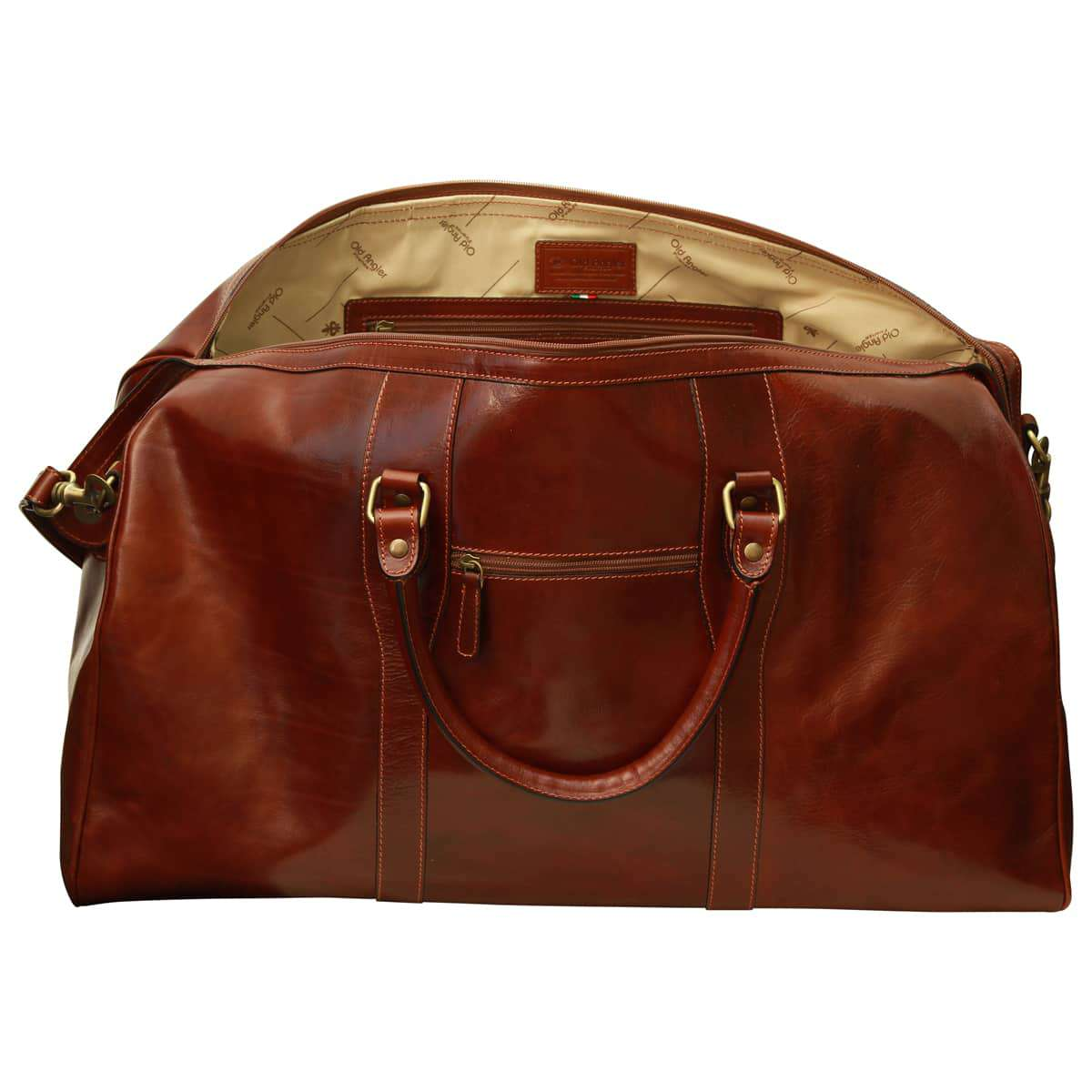 Borsa da viaggio per il weekend. Marrone | 107405MA | Old Angler Firenze