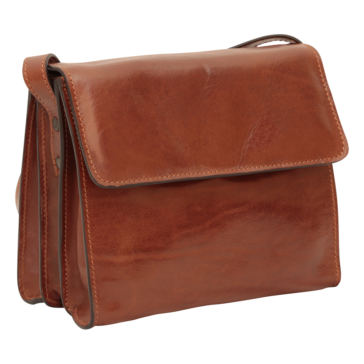 Full grain calfskin shoulder bag - Brown | 209305MA UK | Old Angler Firenze