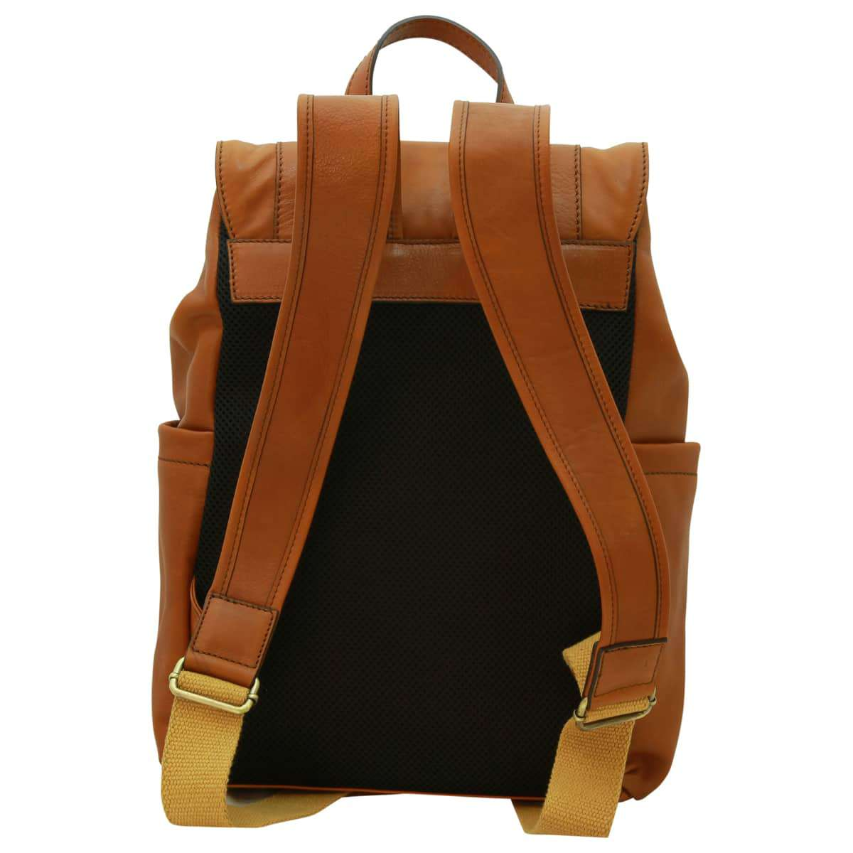 Leather laptop backpack – Gold | 030891CO UK | Old Angler Firenze