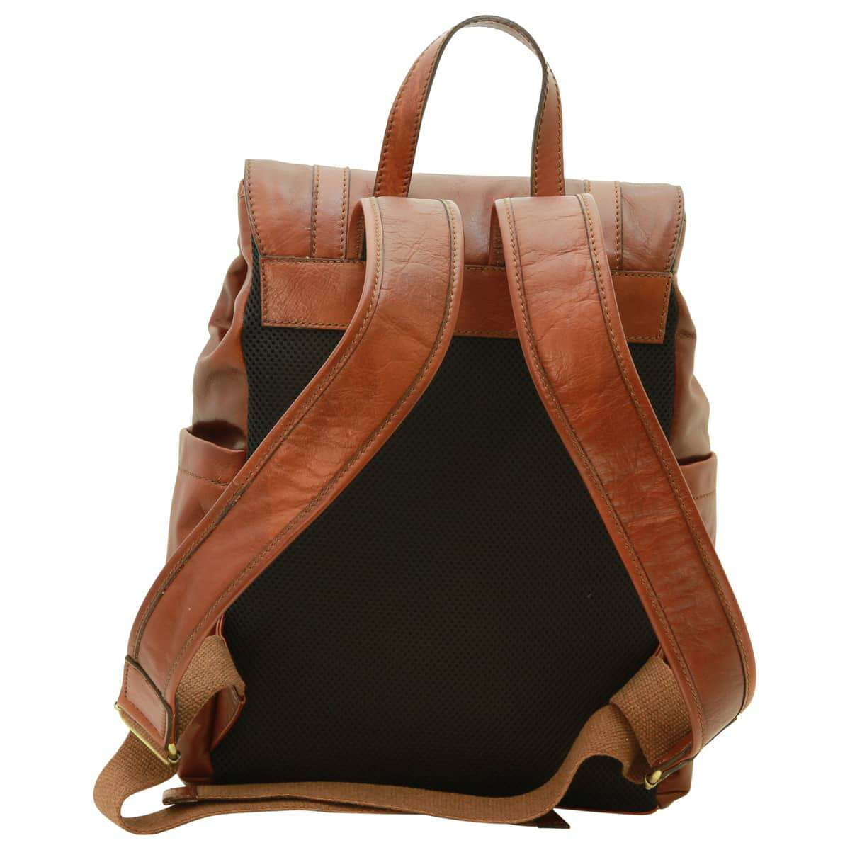 Leather laptop backpack – Brown | 030891MA UK | Old Angler Firenze