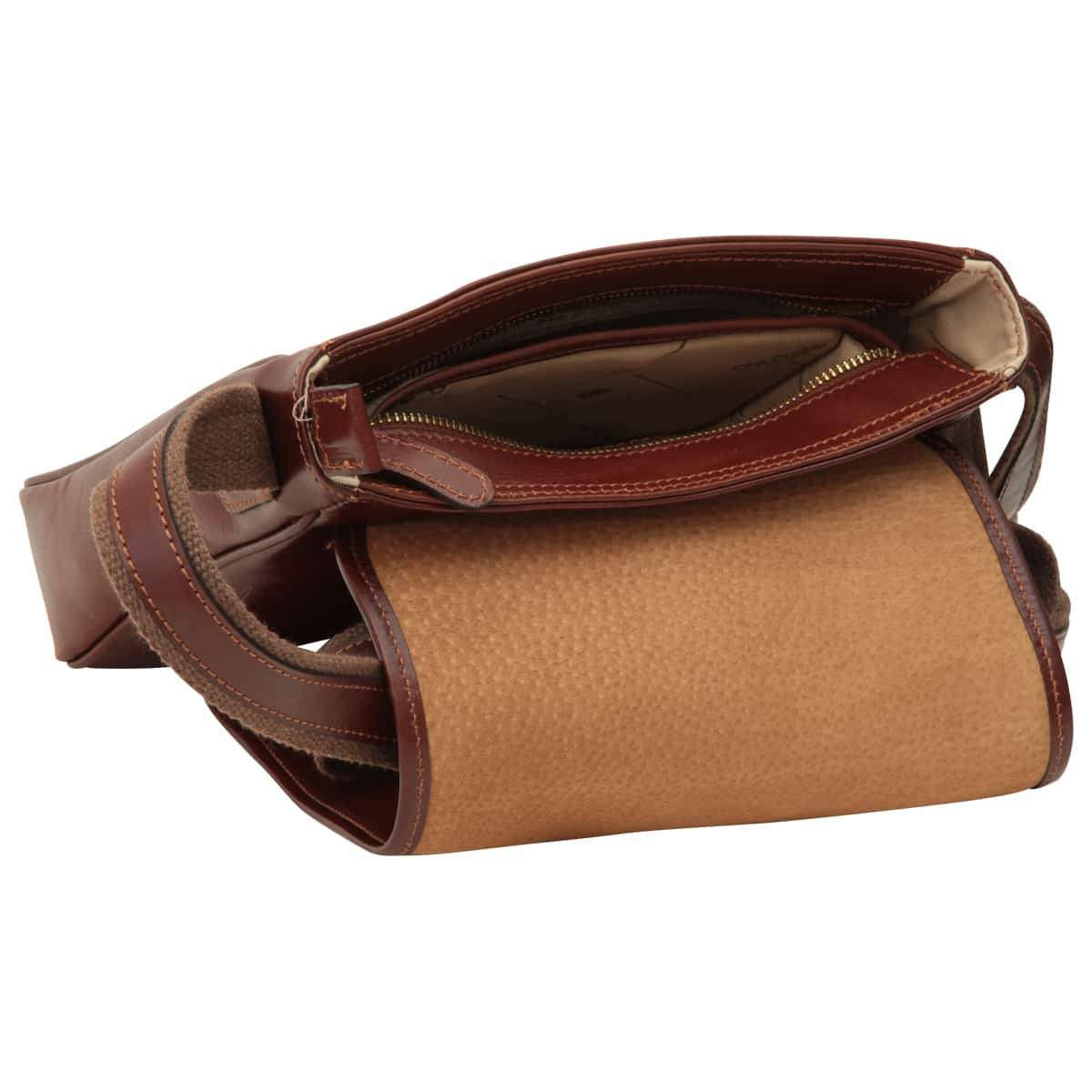 Small leather bag with magnetic closure - Brown  | 406689MA UK | Old Angler Firenze