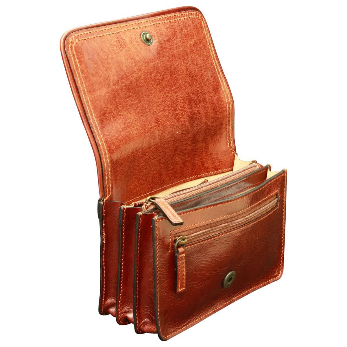 Leather pochette - Brown | 407905MA UK | Old Angler Firenze