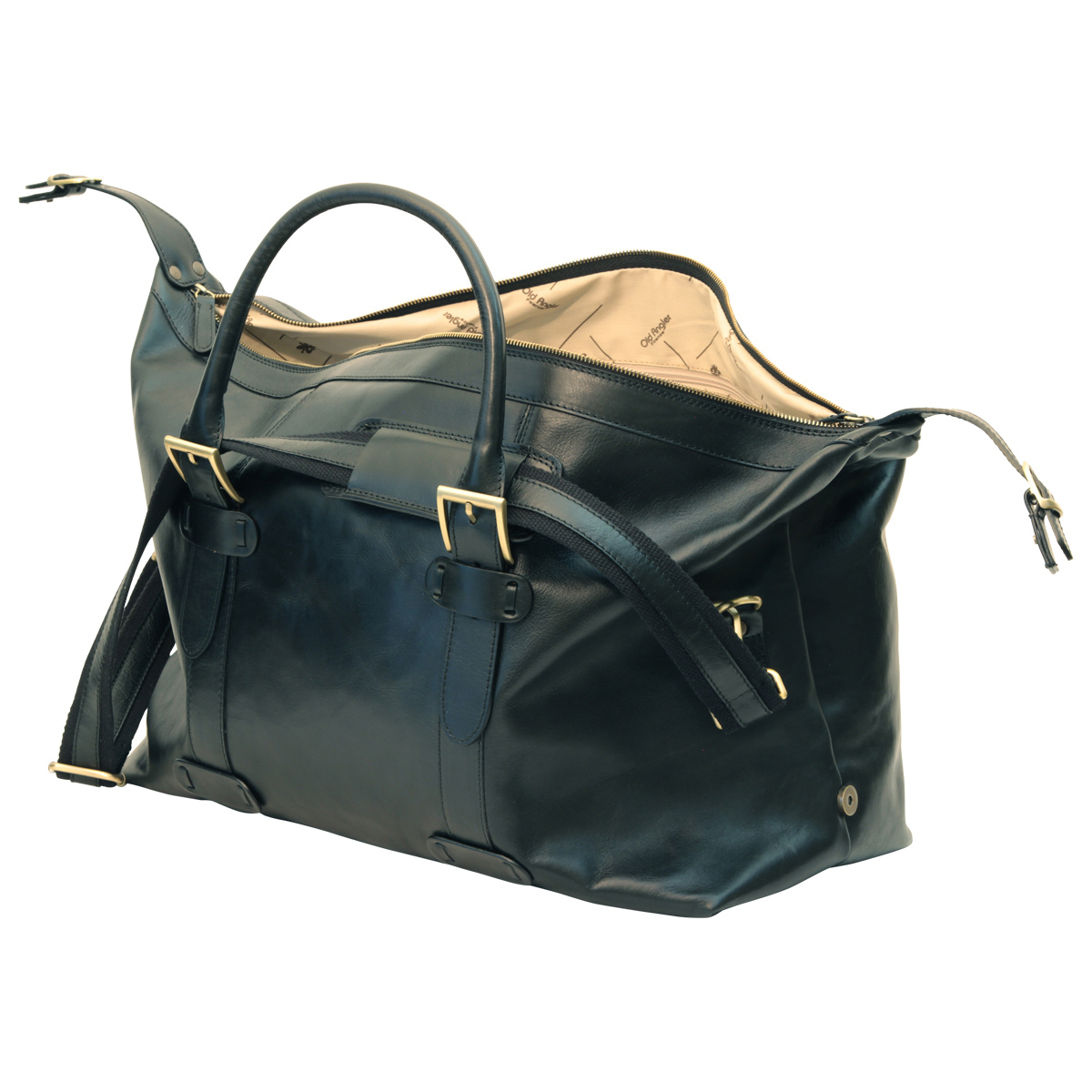 Cowhide leather Travel Bag - Black | 410689NE E | Old Angler Firenze