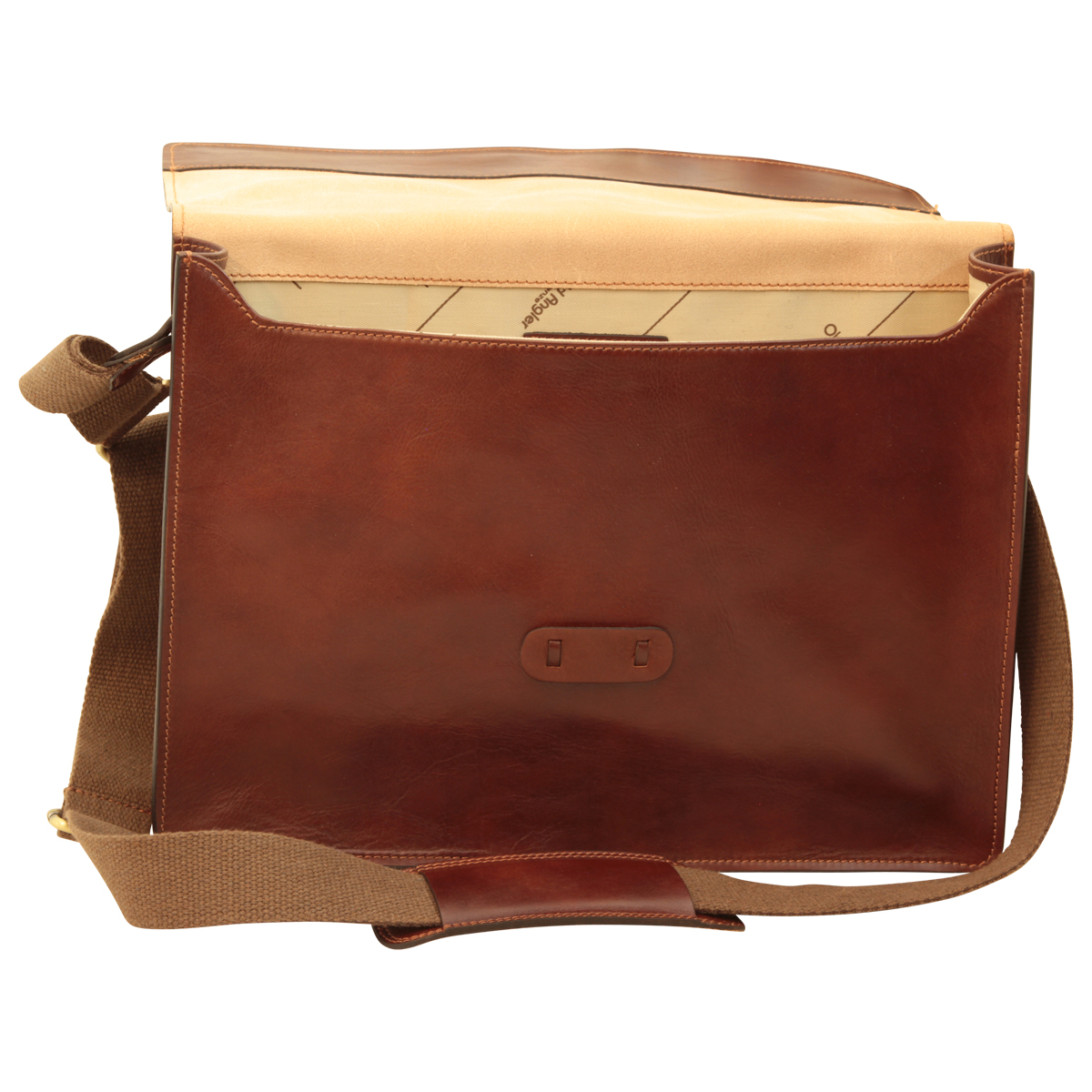 Messenger in pelle. Marrone | 411589MA | Old Angler Firenze