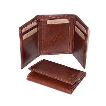 Leather Trifold Wallet - Brown | 500305MA UK | Old Angler Firenze