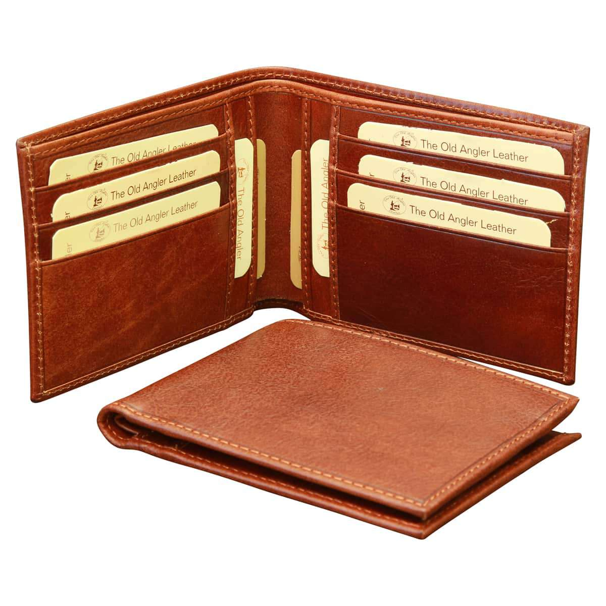 Cowhide leather Bifold Wallet - Brown | 800905MA UK | Old Angler Firenze
