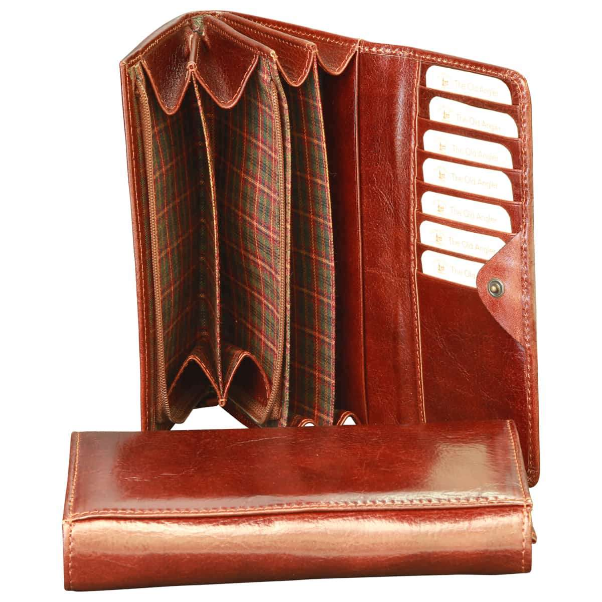 Vachetta leather wallet for women - Brown | 801605MA UK | Old Angler Firenze