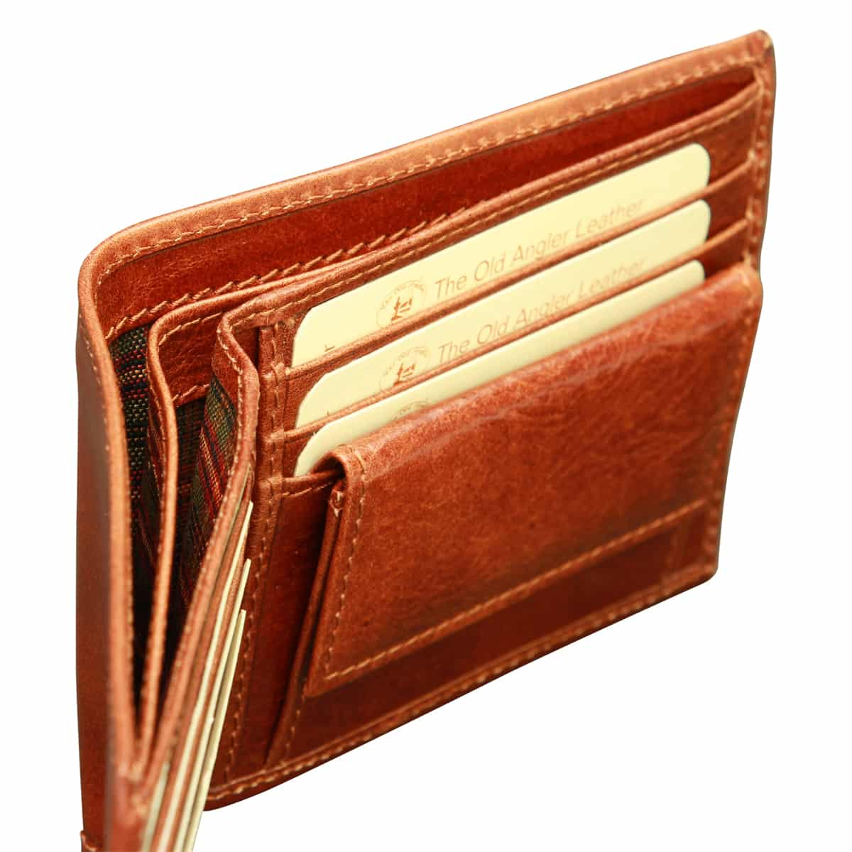 Cowhide leather wallet with coin pocket - Brown | 802305MA W | Old Angler Firenze