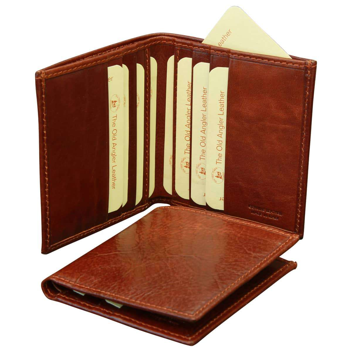 Small leather wallet - Brown | 803705MA UK | Old Angler Firenze