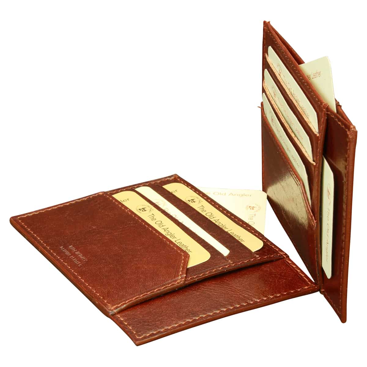 Italian leather credit card holder - Brown | 804005MA E | Old Angler Firenze