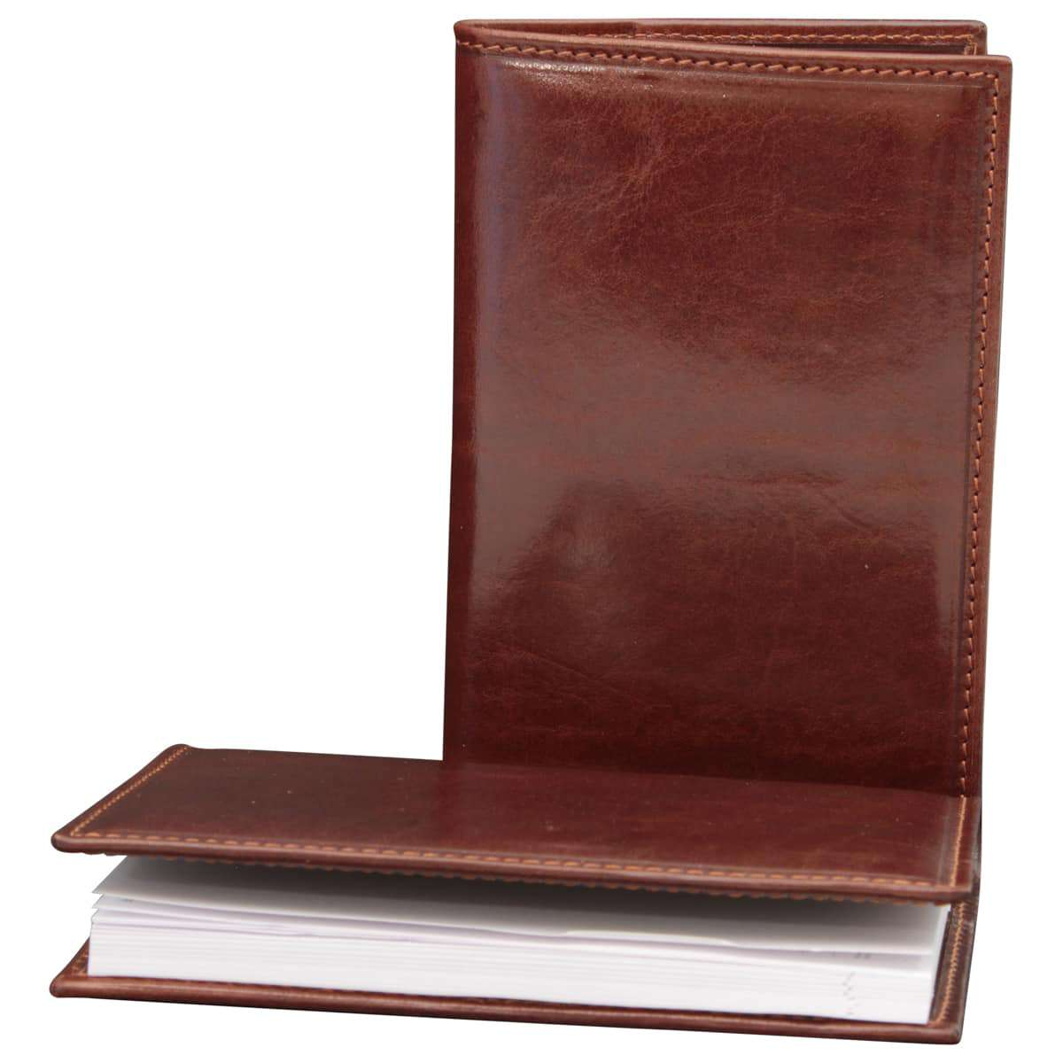 Leather Daily Planner - Brown | 505605MA E | Old Angler Firenze