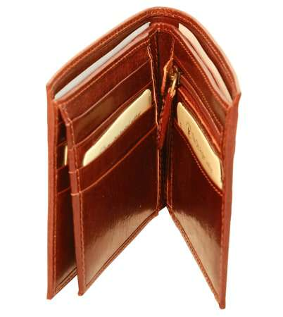 Men's leather wallet with coin pocket - Brown | 508705MA UK | Old Angler Firenze