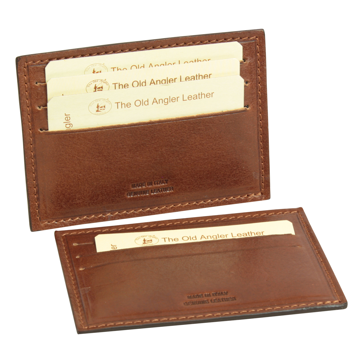 Italian leather card holder - Brown | 552005MA UK | Old Angler Firenze