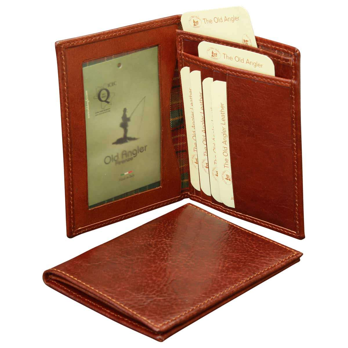 Leather Document Holder - Brown | 552605MA E | Old Angler Firenze