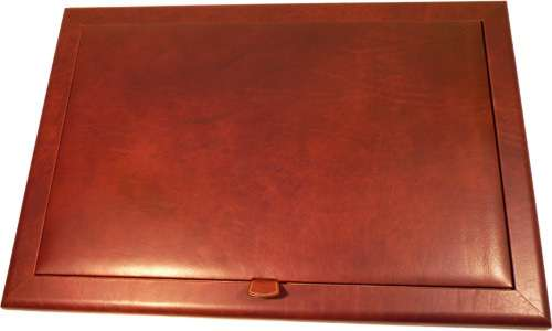 Leather Desk Pad - Brown | 754805MA UK | Old Angler Firenze
