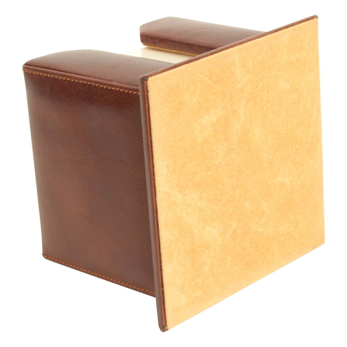 Leather Memo Pad Holder - Brown | 754405MA E | Old Angler Firenze