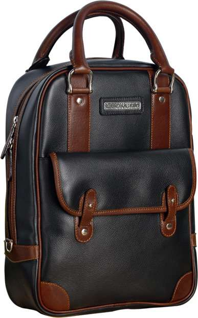Selective Deluxe Leather Bag - Black/Brown | 312065NM E | Old Angler Firenze