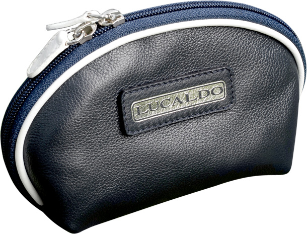 Selective leather Accessory Case - Navy/WhitUS | 314065BB UK | Old Angler Firenze