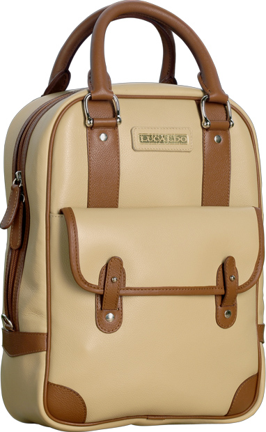 Selective Deluxe Leather Bag - Sandy Brown/Brown | 312065SC E | Old Angler Firenze