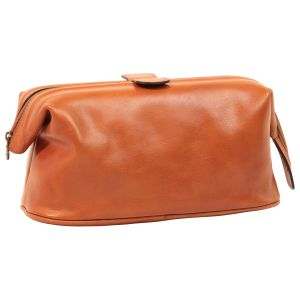 Leather Beauty Case - Brown Colonial