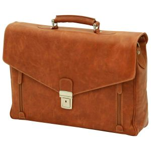 Borsa in pelle per laptop. Marrone Coloniale