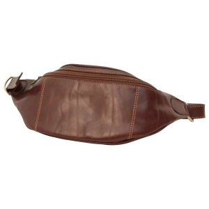 Leather Belt Pack - Brown