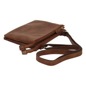 full-grain calfskin leather shoulder bag - Brown