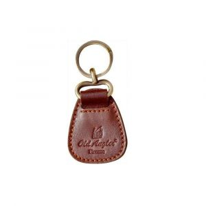 Old Angler Leather Key Chain - Brown