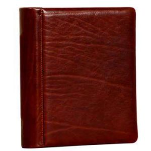 Cowhide leather photo album - Brown