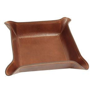 Leather Catchall Tray - Brown