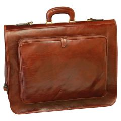 Vachetta leather garment bag - Brown