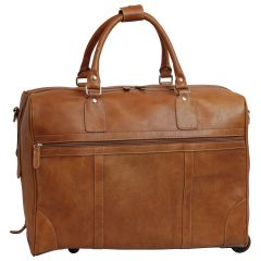 Oiled Calfskin leather duffel bag – Colonial Brown