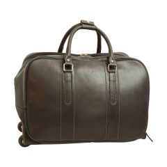Oiled calfskin travel bag - Black
