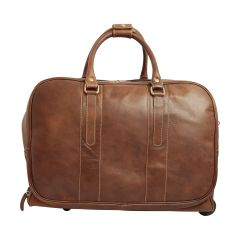 Oiled calfskin travel bag - Dark brown