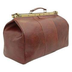 "Leather ""old America"" bag - brown"