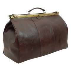 "Leather ""old America"" bag - dark brown"