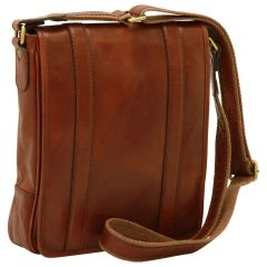 Soft Calfskin Leather Satchel Bag - Brown