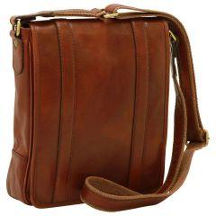 Soft Calfskin Leather Satchel Bag - Brown