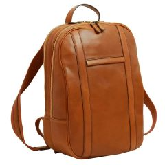 Soft Calfskin Leather Laptop Backpack – Gold