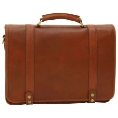 Calfskin Nappa leather briefcase - Brown